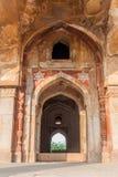 Detail van Graf van Adham Khan in Mehrauli-district van Delhi, Ind. royalty-vrije stock foto's