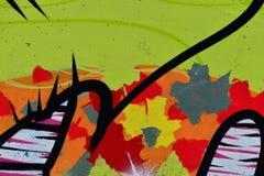 Detail van Graffiti op geschilderde muur stock fotografie