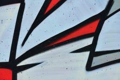 Detail van Graffiti op geschilderde muur stock foto