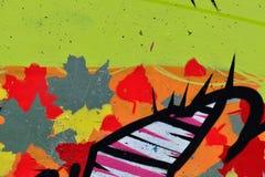 Detail van Graffiti op geschilderde muur royalty-vrije stock fotografie