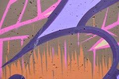Detail van Graffiti op geschilderde muur stock foto's