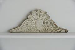 Detail van gravure met een gebarsten verf Royalty-vrije Stock Fotografie
