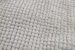 Detail van Gray Fluffy Fabric Texture Background Royalty-vrije Stock Afbeelding