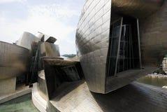Detail van Guggenheim-museum, Bilbao, Spanje Stock Afbeeldingen