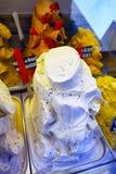 Detail van heerlijk roomijs in een winkel Stock Foto
