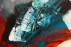 Detail van het abstracte acryl schilderen zonder titel Royalty-vrije Stock Afbeelding