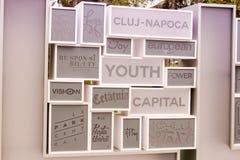 Detail van het abstracte monument Stock Fotografie