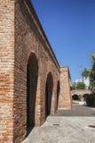 Detail van het bastion Maria Theresia - de middeleeuwse vesting van de stad op 08 September, 2017 in Timisoara Royalty-vrije Stock Afbeeldingen
