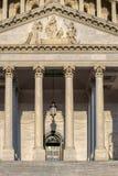 Detail van het het Capitoolgebouw van Verenigde Staten in Washington D C stock afbeeldingen