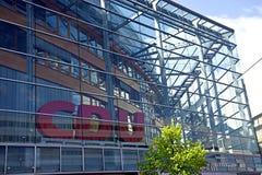 Detail van het CDU-partijhoofdkwartier in Berlijn Stock Afbeelding