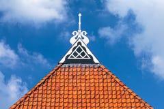 Detail van het dak van een oud Nederlands landbouwbedrijf Royalty-vrije Stock Fotografie