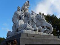 Detail van het gedenkteken van Albert, Londen, het UK Stock Fotografie