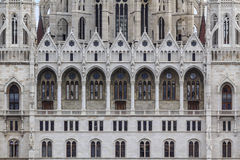 Detail van het Hongaarse Parlement Stock Fotografie
