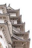 Detail van het Kasteel van Himeji, Japan stock afbeelding