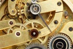 Detail van het klokwerk dat wordt geschoten Stock Foto