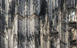 Detail van het kunstwerk op de Dom kerk, Koln Duitsland Royalty-vrije Stock Afbeelding