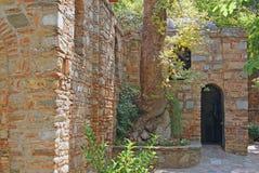 Detail van het maagdelijke huis van Mary van efes stock foto