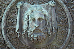 Detail van het monument aan Minin en Pozharsky (schild) Moskou, Stock Afbeelding