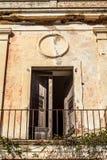 Detail van het oud verlaten ziekenhuis Royalty-vrije Stock Afbeeldingen