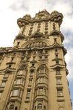 Detail van het paleis van het Salvo, Montevideo. Stock Foto