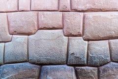 Detail van het perfecte metselwerk van Inca stock foto