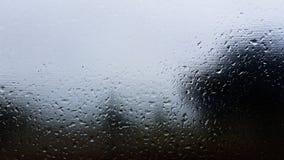 Detail van het regen het natte venster Stock Foto