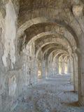 Detail van het Roman theater van Aspendos in Turkije royalty-vrije stock afbeeldingen