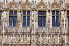 Detail van het Stadhuis van Brussel/Stadhuis (Hotel DE Ville) Stock Afbeelding