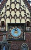 Detail van het Stadhuis, Wroclaw, Polen Royalty-vrije Stock Fotografie