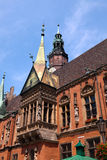 Detail van het Stadhuis, Wroclaw, Polen Stock Afbeeldingen