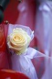 Detail van het uitstekende rode huwelijk van de autodeur Stock Fotografie