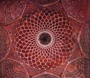 Detail van het verfraaien van Taj Mahal Stock Fotografie