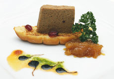 Detail van het voedsel van de ganspastei Stock Foto's
