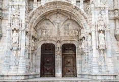 Detail van Hieronymites-Klooster (Mosteiro-Dos Jeronimos) Royalty-vrije Stock Foto's