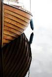 Detail van houten boot Stock Afbeeldingen