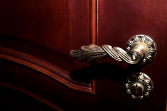 Detail van houten deur Stock Foto