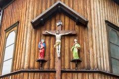 Houten kerk in Zawoja - Polnad. Royalty-vrije Stock Fotografie