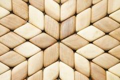 Detail van houten mozaïek stock foto's