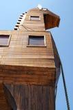 Detail van houten trojan paard Stock Foto's
