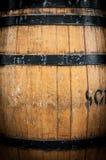 Detail van houten vat met metaalhoepels. Royalty-vrije Stock Afbeelding