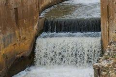 Detail van Irrigatiekanaal Stock Foto's