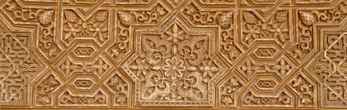 Detail van Islamitisch (Moors) tilework in Alhambra, Granada, Spanje Royalty-vrije Stock Afbeeldingen