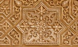 Detail van Islamitisch (Moors) tilework in Alhambra, Granada, Spanje Stock Foto