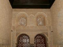 Detail van Islamitisch (Moors) tilework in Alhambra, Granada, Spanje Royalty-vrije Stock Afbeelding