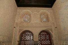 Detail van Islamitisch (Moors) tilework in Alhambra, Granada, Spanje Stock Fotografie