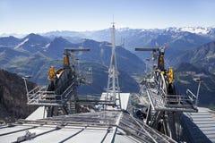 Detail van kabelwagentoestel Courmayeurvallei royalty-vrije stock foto