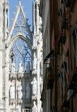 Detail van kathedraal en kaderhuizen Stock Fotografie