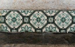 Detail van keramische tegels in Lissabon, Portugal royalty-vrije stock afbeeldingen