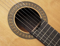 Detail van klassieke gitaar Stock Foto's