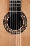 Detail van klassieke gitaar Stock Afbeelding